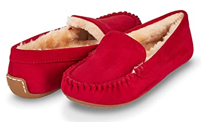 0a7ed0e0b199 Floopi Womens Indoor Outdoor Faux Fur Lined Basic Moccasins Slipper  W Memory Foam (