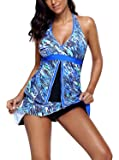 GOSOPIN Women Sexy Flyaway Sport Tankini Set Two Piece Swimsuit Swimwear