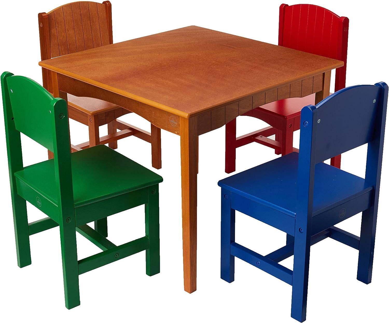 Amazon Com Kidkraft Nantucket Table And 4 Chair Set Multi Color Toys Games