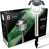 LED Solar Lights Outdoor Landscape Pathway Lighting – Sun Powered Yard Lights For Garden, Ground Path, Walkway, & Driveway, 8 Pack