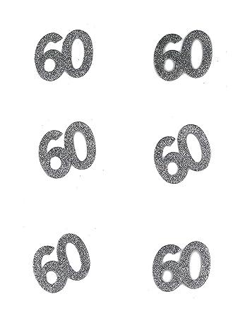 Kultfaktor Gmbh Tischdeko Geburtstag 60 Jahre Konfetti 6 Stuck