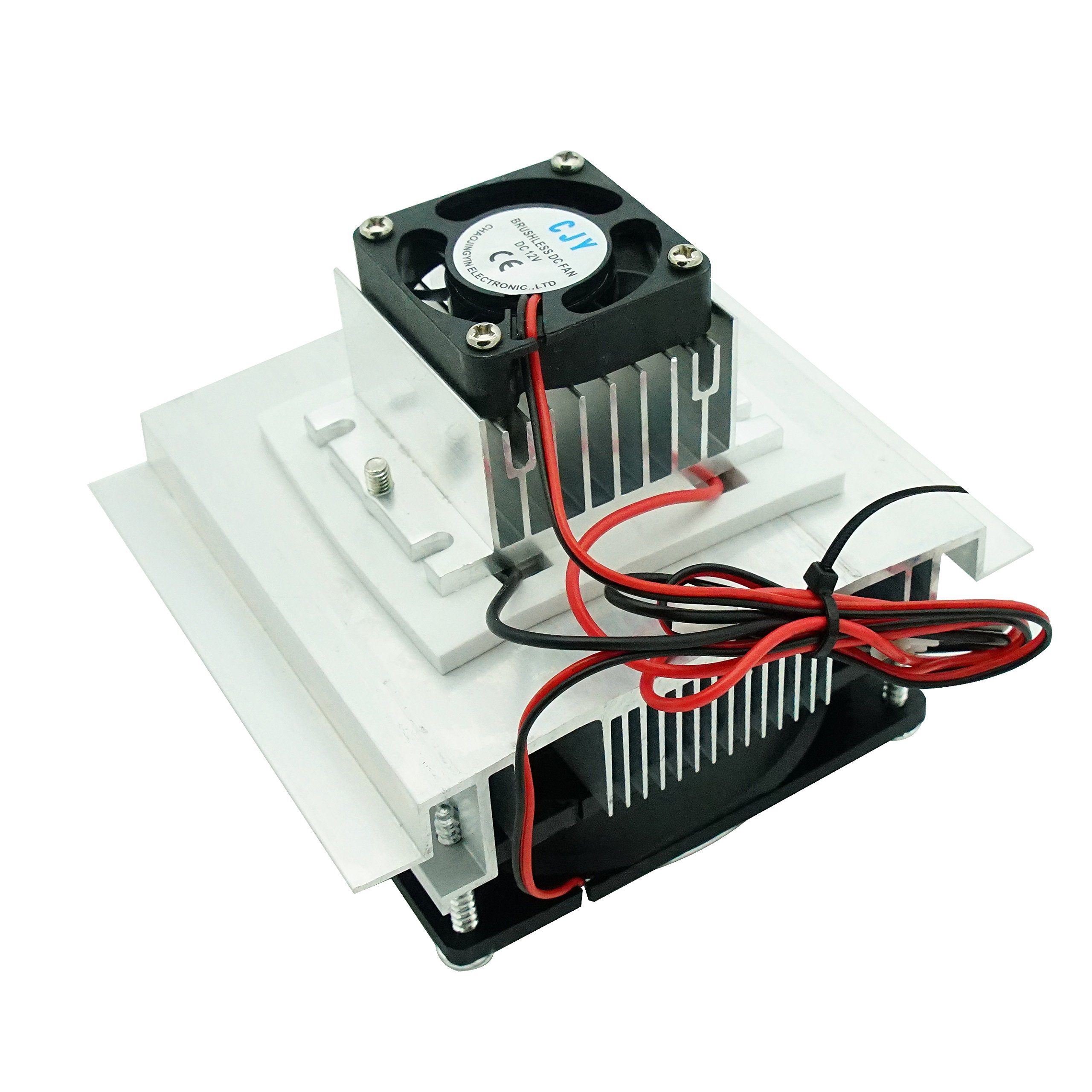 GeekTeches Thermoelectric Peltier Refrigeration Cooling System, Radiator Semiconductor Cooler Conduction Module Fan