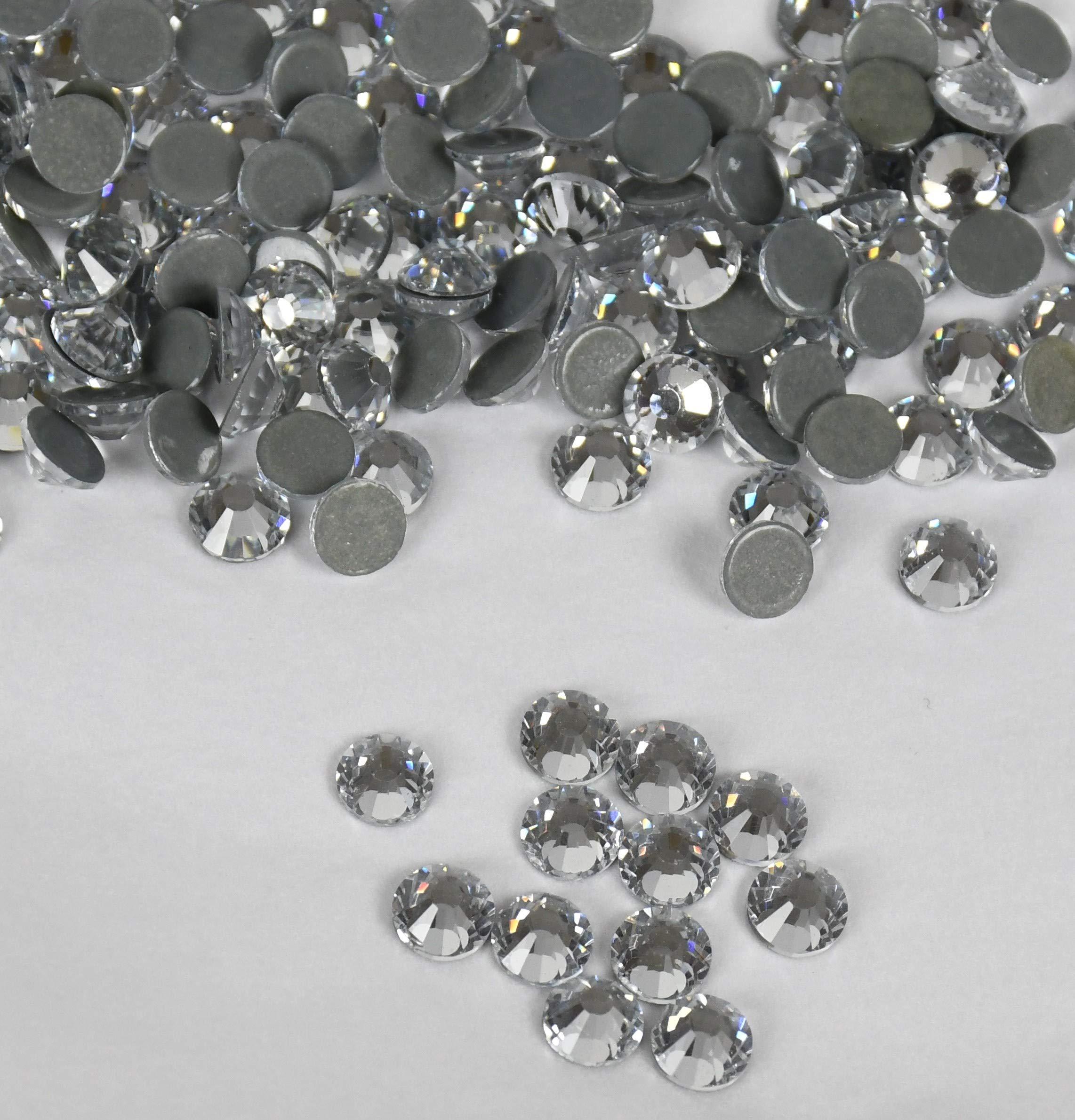 NEW ThreadNanny CZECH Quality 10gross (1440pcs) HotFix Rhinestones Crystals - 5mm/20ss, Crystal/Clear Color by ThreadNanny