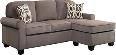 "Homelegance R18208-3SC Sectional Sofa, 59"" W, Brown"