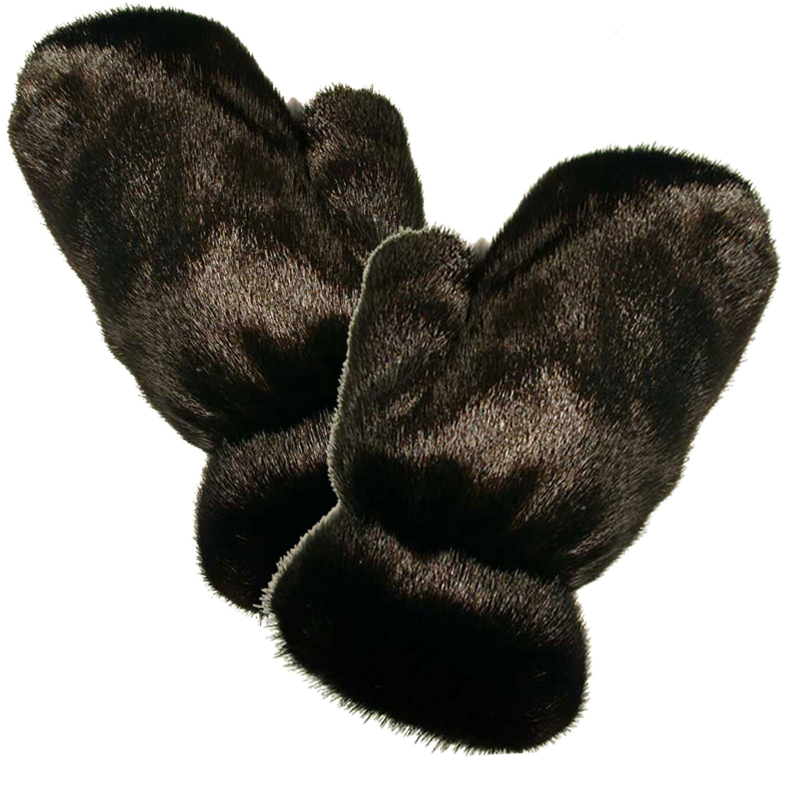 MinkgLove Full Fur Massage Glove, Mink, Covered Inside and Outside, Silky Smooth Yet Textured Feel, Black, Hand Tailored, Unisex, One Size - Four Sided All Fur