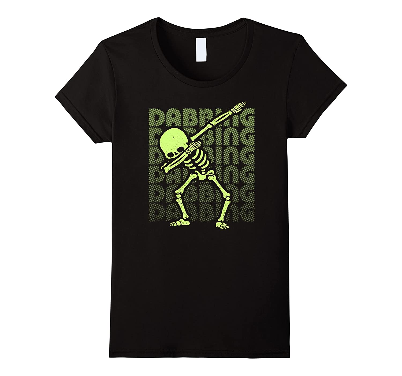 Dabbing Skeleton Shirt GLOW EFFECT Dab Hip Hop Skull Dabbin