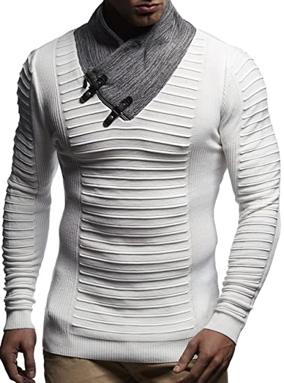 c9344d70f021c LEIF NELSON Hommes Pullover Pull en Tricot Hoodie Basic col Rond Crew Neck  Sweatshirt Longsleeve Manche
