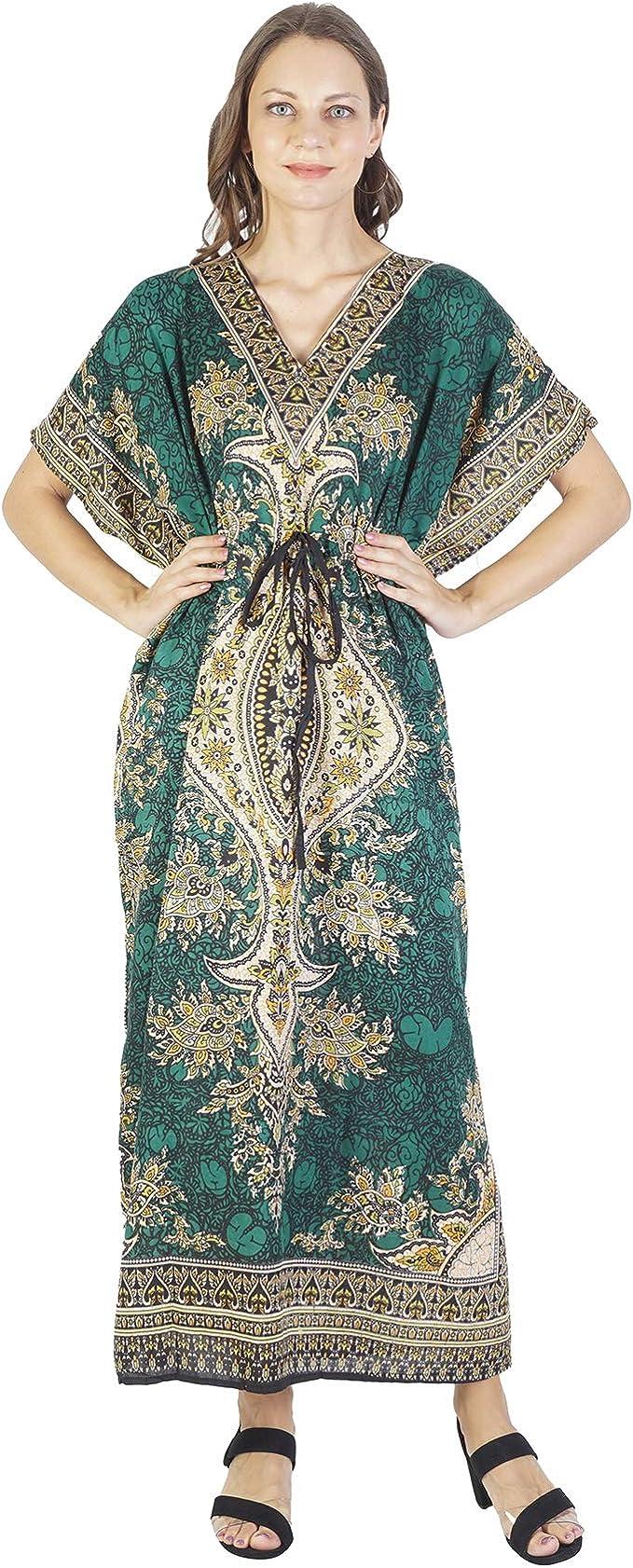 Long Silk Dress Maxi Dress Silk Kaftan Dress Indian Caftan Dress Loose Tunic Silk Kaftan
