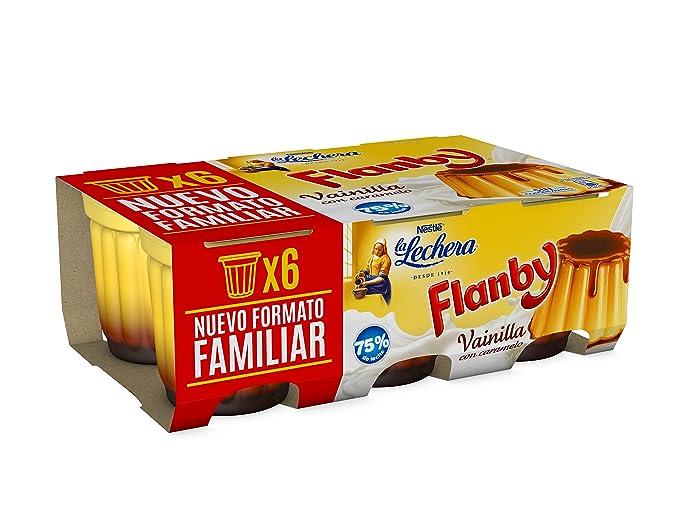La Lechera, Postre lácteo (Flan Vainilla) - 6 de 100 gr. (
