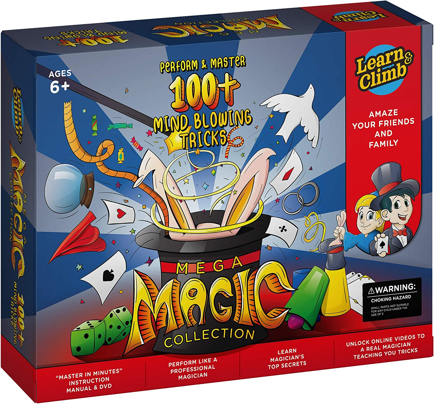 Mega Magic Kit for Kids. Perform Hundreds Todays Most Exciting Tricks. Magic Set with Instructional DVD