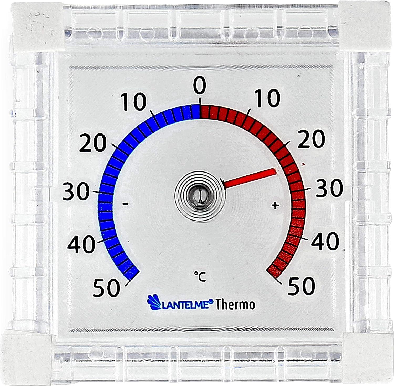 2 Stk Fensterthermometer Analog Außen Fenster Thermometer Selbstklebend Bimetall