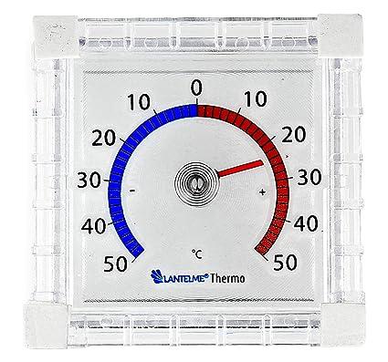 Lantelme Fensterthermometer Set 3 St/ück Au/ßen Garten Fenster Thermometer Analog zum ankleben Fensterscheibe 6484