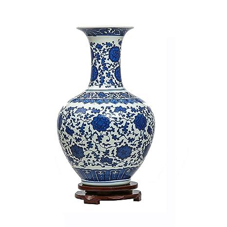 Jingdezhen Bleu Et Blanc Porcelaine Vase Vase Chinois Vase Antique En Ceramique Vase Art Deco Pour Le Menage Bureau Mariage Fete