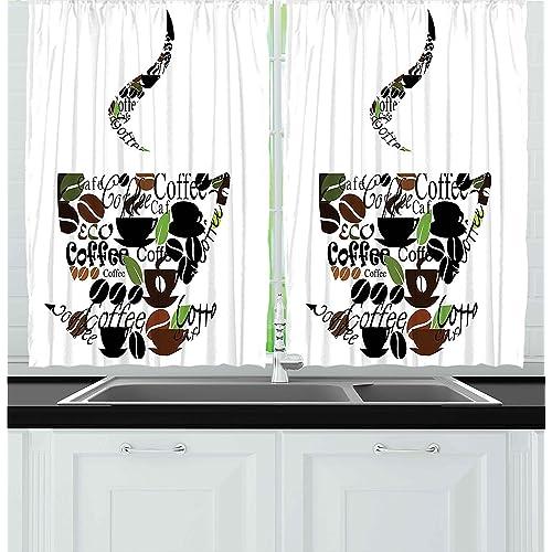 Kitchen Coffee Curtains: Amazon.com