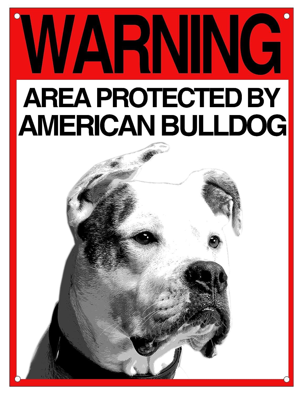 Lovelytiles American Bulldog matrícula Cuidado con el Perro ...