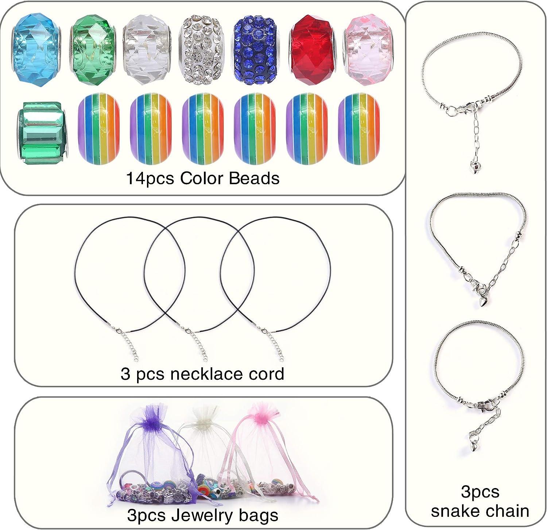 KINGYAO Charm Bracelet Jewelry Kit DIY Bracelet Making Kit Charms Bracelets Schmuckherstellung Kit f/ür Party Schmuck Making Birthday Crafts f/ür Teenager-M/ädchen