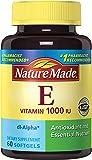 Nature Made Vitamin E 1000IU Softgels, 60 Count