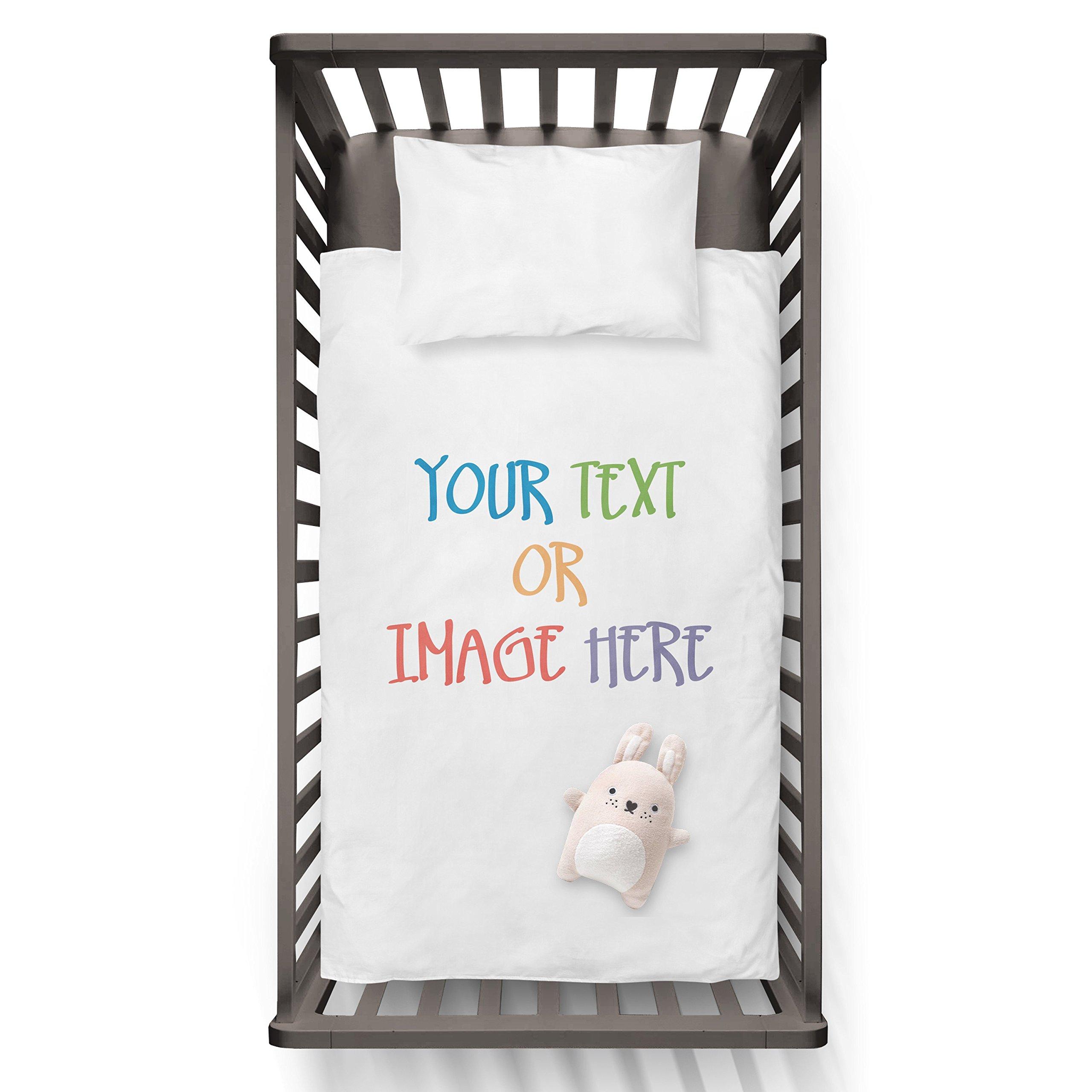 Personalised duvet Your text or image here Funny Humor Hip Baby Duvet /Pillow set,Toddler Duvet,Oeko-Tex,Personalized duvet and pillow,Oraganic,gift