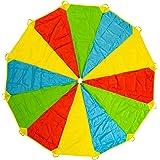 Paracaídas Infantil Grande Arcoiris 12 Pies 12 Asas, Horas De Diversión Y Entretenimiento Para Niños Y Infantil Pequeños…
