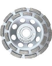 PRODIAMANT Premium Diamant-Schleiftopf Beton/universal 125 mm x 22,2 mm doppelreihig silber Diamantschleiftopf PDX829.025 125mm Schleifscheibe