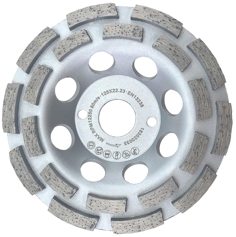 PRODIAMANT Premium PDX829.025 Diamond Grinding Cup Wheel 125 22.2 Silver