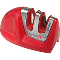 Kitchen IQ 50883 Afilador de Cuchillo Manual de 2 etapas, Rojo …