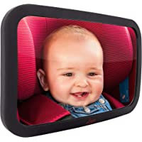 Baby Backseat Mirror for Car - Largest and Most Stable Mirror with Premium Matte Finish - Crystal Clear View of Infant…