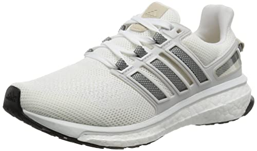 Women's adidas Energy Boost Running Shoes WhiteMetallic