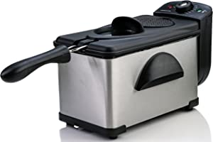 OVENTE Deep Fryer 2L with Adjustable Temperature Control and Indicator Lights (FDM2201BR)