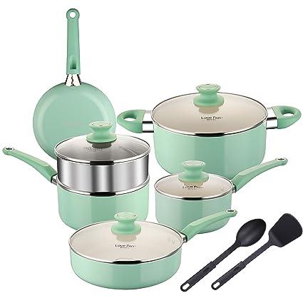 Amazoncom Cooksmark Lovepan Beets Pots And Pans Set Tiffany Blue