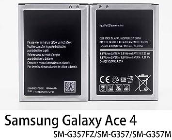 003aab77f8e SAMSUNG EB-BG357BBE BATT NEW GALAXY ACE 4 1900 MAH: Amazon.co.uk ...