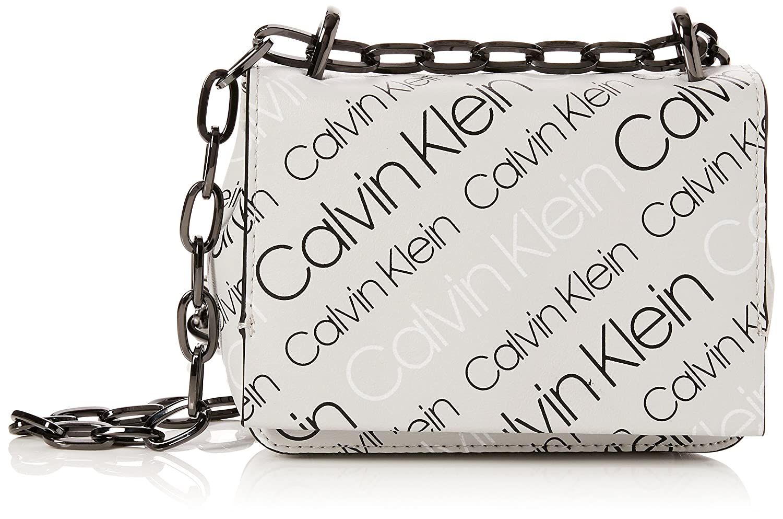 Calvin Klein Jeans - Ck Candy Small Crossbody Logo, Bolsos bandolera Mujer, Negro (Logo Print Black), 8x16x18 cm (B x H T) K60K604383
