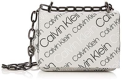 0d8a7774a5a Calvin Klein Jeans Ck Candy Small Crossbody Logo, Women's Cross-Body Bag,  Black