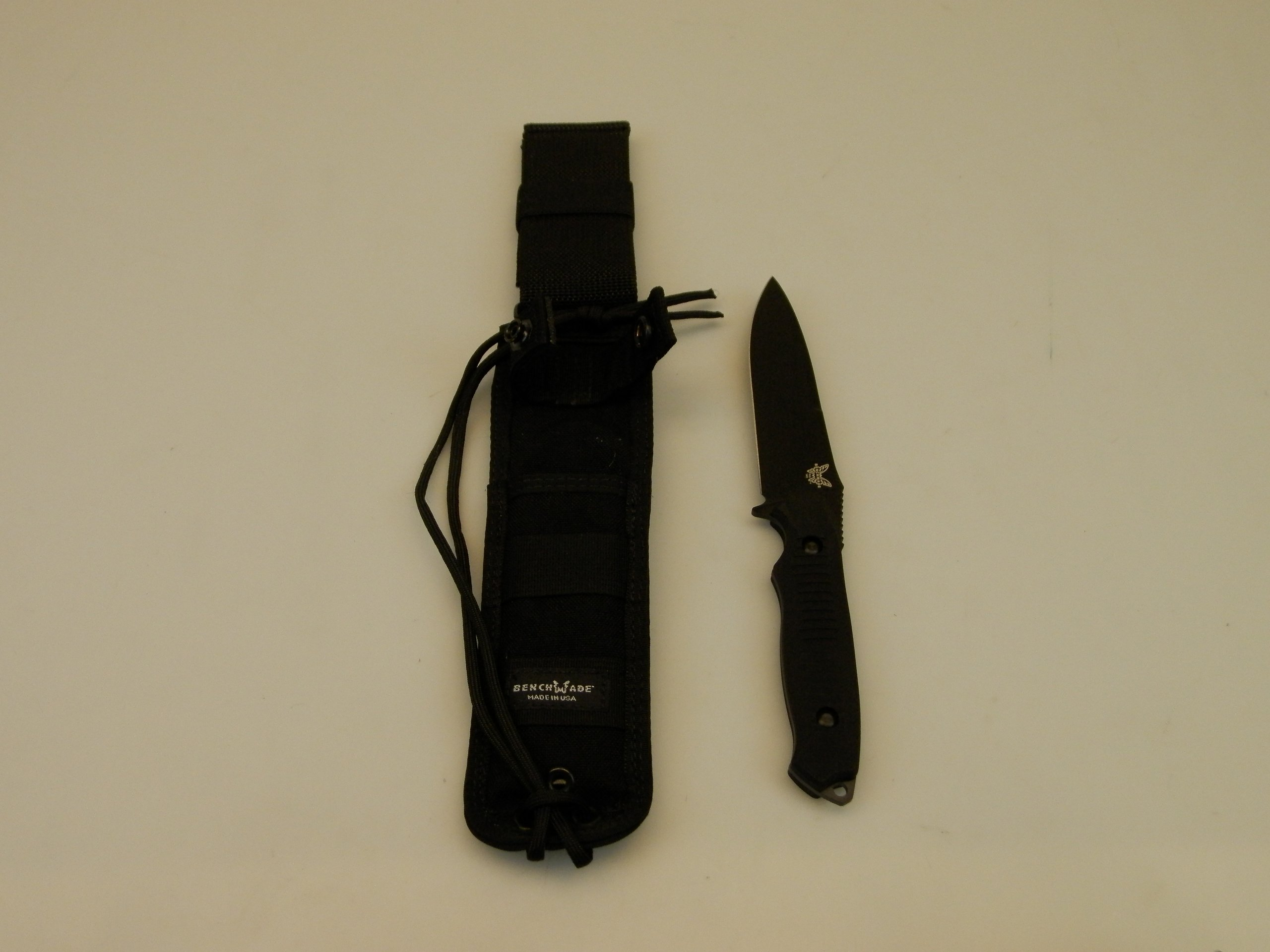 Benchmade Knife 140BK Nimravus, Fixed Black Blade, Black Handle by Benchmade (Image #1)