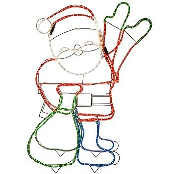 Werchristmas animated father christmas santa claus waving hand rope werchristmas animated father christmas santa claus waving hand rope light silhouette decoration 89 cm aloadofball Images