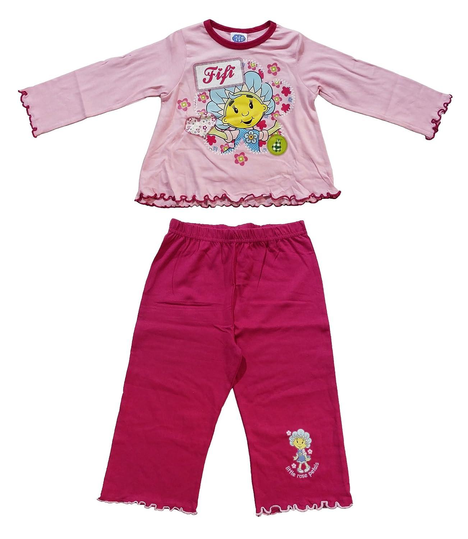 i-Smalls Girls Kids Toddler Fifi and Flowertots Cotton Long Pyjamas Sleepwear Nightwear