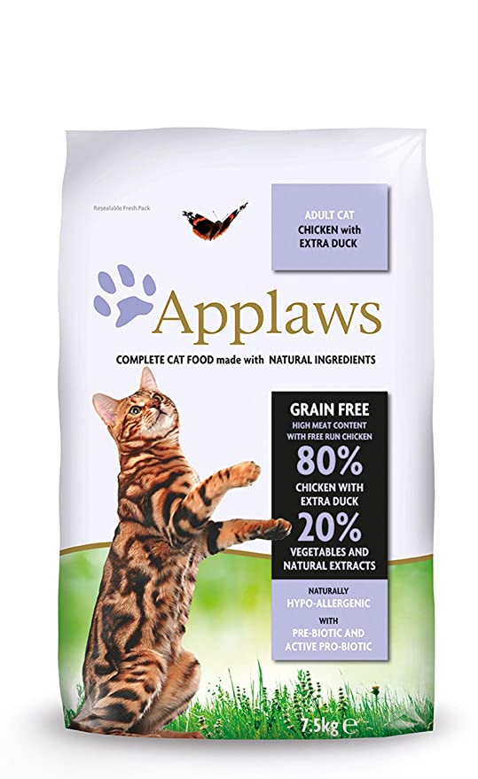 Applaws Comida seca para gatos, pollo y pato/adulto, 7.5 kg