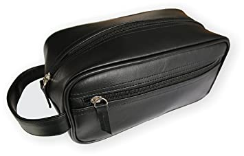 Travel Toiletry Bag Shave Kit For Men or Women. One large Zippered Pocket  For 17d4853c0a7dc