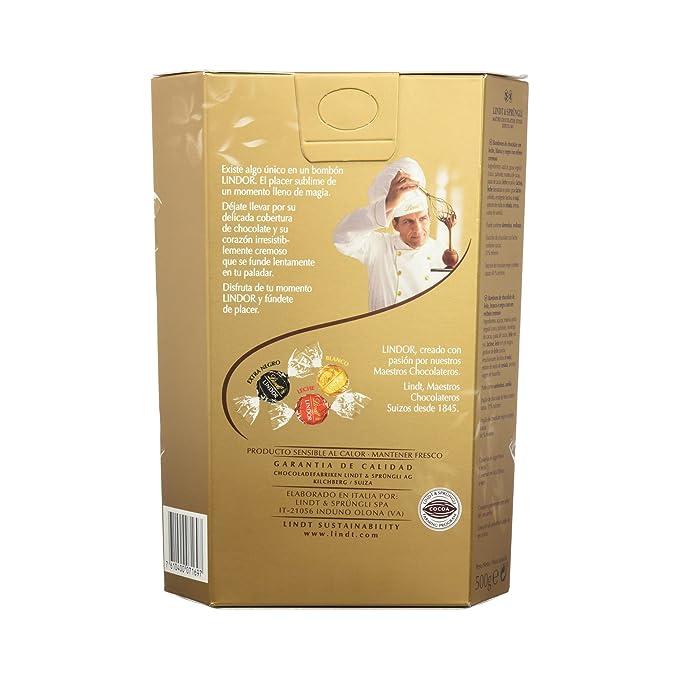 Lindt - Bombones Lindor Cornet Surtido, 500 g: Amazon.es: Alimentación y bebidas