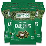 Rhythm Superfoods Kale Chips, Original, Organic and Non-GMO, 0.75 Oz (Pack of 8) Single Serves, Vegan/Gluten-Free Superfood S
