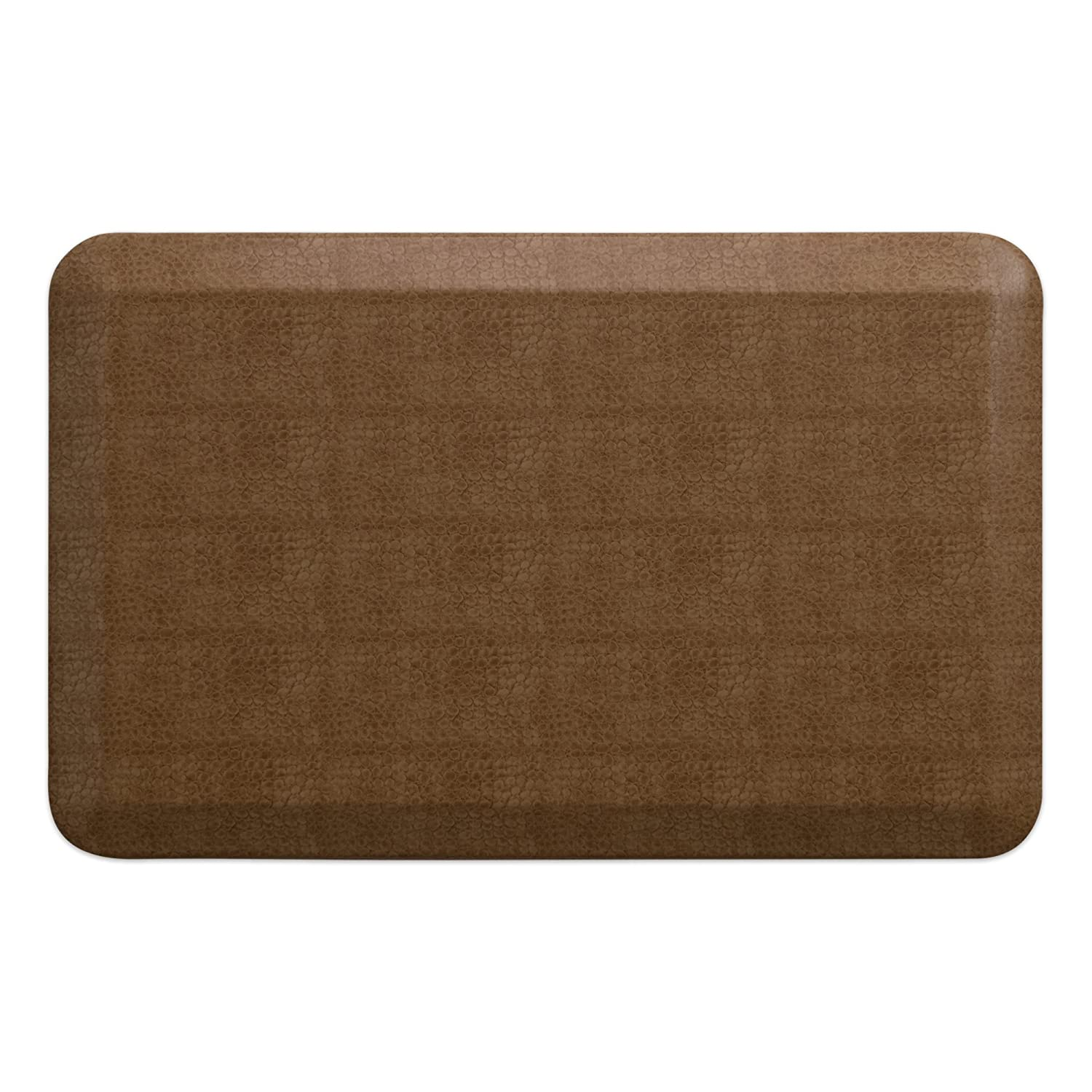 Pebble Caramel 20  x 32  NewLife by GelPro Designer Comfort Mat, 20 by 72-Inch, Lattice Mineral Grey