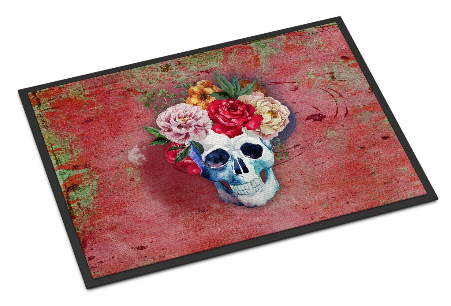Caroline's Treasures Day of the Dead Green Doormat 24' H x 36' W Multicolor