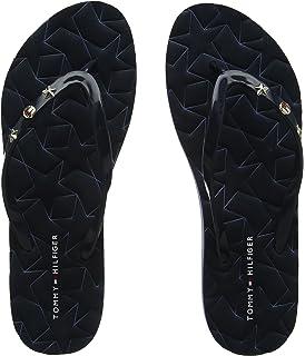 Tommy Hilfiger Damen Flexible Essential Beach Sandal Zehentrenner, Blau (Midnight 403), 36 EU