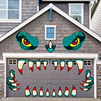 KUUQA Halloween Monster Face Decorations with Large Eyes Fangs Claws, Halloween Outdoor Decorations Garage Door Decorations Car Party Decor for Halloween Party Decorations