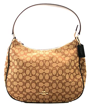 e2e3bed1631 Image Unavailable. Image not available for. Color  Coach Zip Shoulder Bag  in Signature Jacquard ...