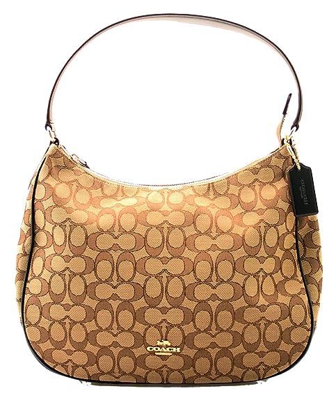 Coach Zip Shoulder Bag in Signature Jacquard (Khaki Brown)  Amazon.ca  Shoes    Handbags 6b997634cbd5a