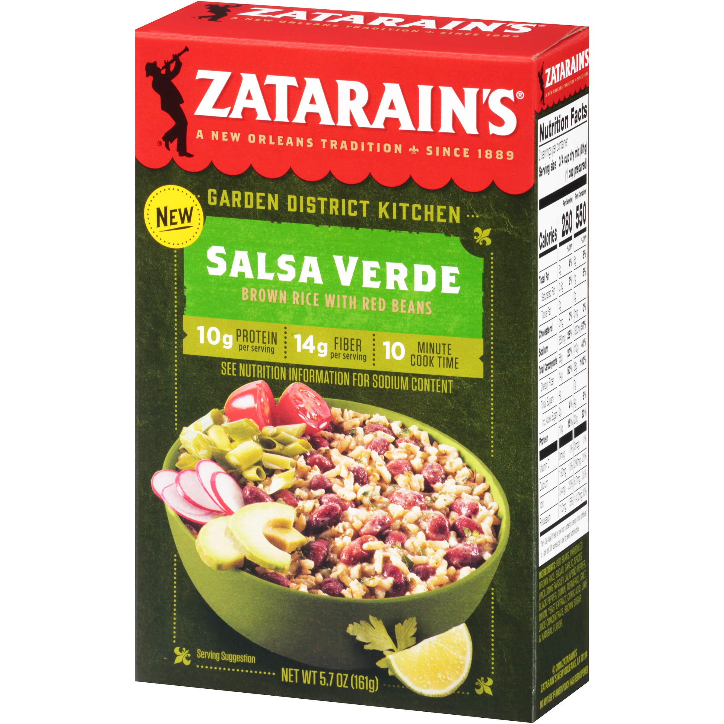 Zatarain's Salsa Verde Brown Rice With Red Beans, 5.7 oz by Zatarain's