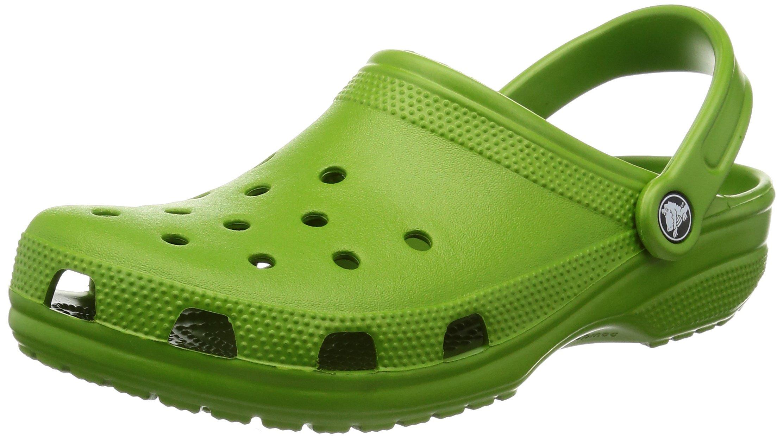 crocs Unisex Classic Clog, Parrot Green, 9 US Men / 11 US Women