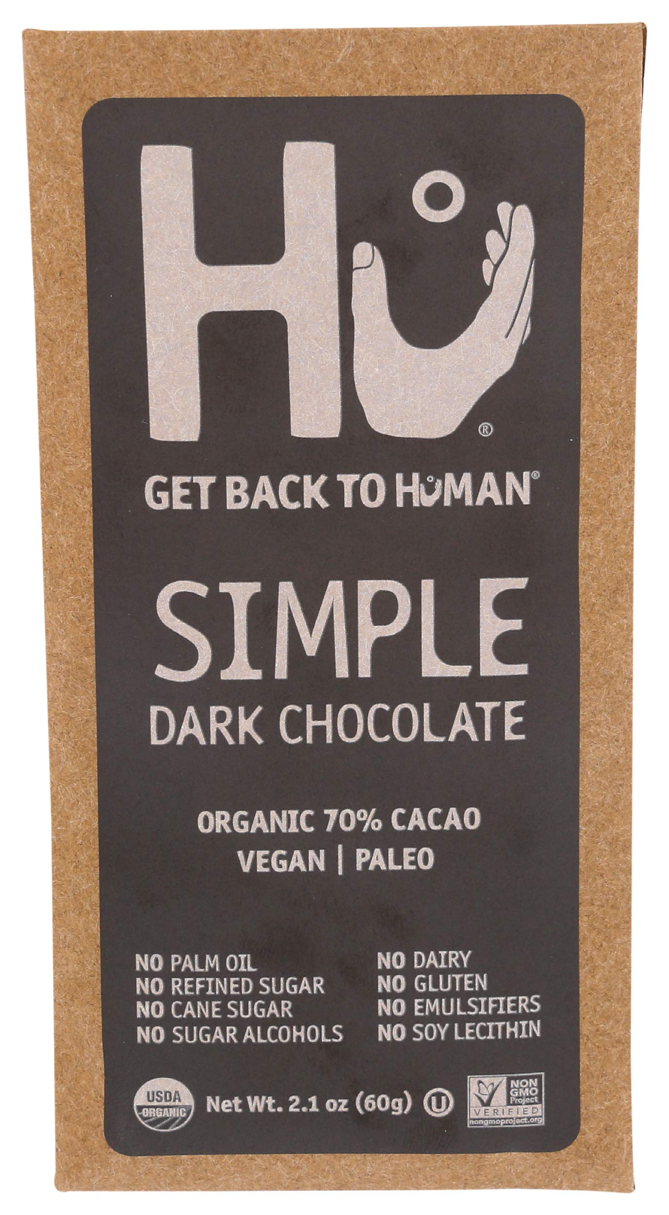 Hu Kitchen, Bar Chocolate Simple, 2.1 Ounce