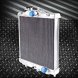 2 ROW 42MM Full Aluminum Racing Radiator Stop Leak For HONDA CIVIC EG EK DEL SOL